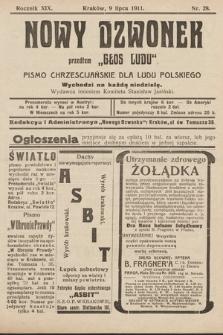 """Nowy Dzwonek : przedtem """"Głos Ludu"""" : pismo chrześcijańskie dla ludu polskiego. 1911, nr28"""