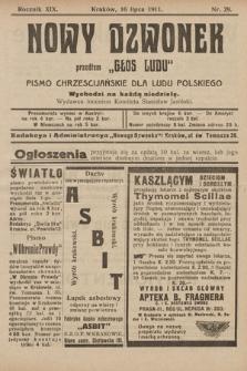 """Nowy Dzwonek : przedtem """"Głos Ludu"""" : pismo chrześcijańskie dla ludu polskiego. 1911, nr29"""