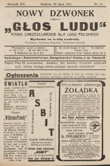 """Nowy Dzwonek : przedtem """"Głos Ludu"""" : pismo chrześcijańskie dla ludu polskiego. 1911, nr31"""