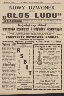 """Nowy Dzwonek : przedtem """"Głos Ludu"""". 1911, nr37"""