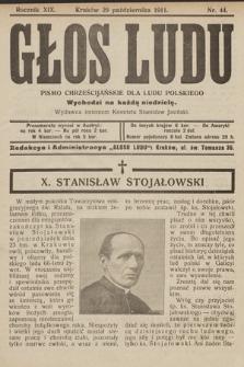 Głos Ludu : pismo chrześcijańskie dla ludu polskiego. 1911, nr44