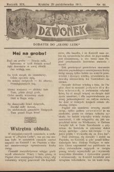 """Nowy Dzwonek : dodatek do """"Głosu Ludu"""". 1911, nr44"""