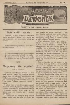 """Nowy Dzwonek : dodatek do """"Głosu Ludu"""". 1911, nr46"""