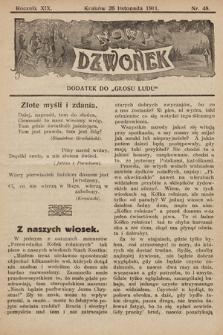 """Nowy Dzwonek : dodatek do """"Głosu Ludu"""". 1911, nr48"""