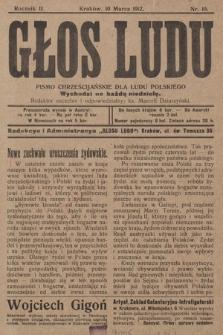 Głos Ludu : pismo chrześcijańskie dla ludu polskiego. 1912, nr10