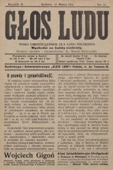 Głos Ludu : pismo chrześcijańskie dla ludu polskiego. 1912, nr11