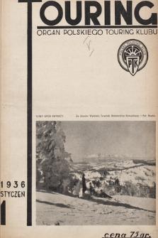 Touring : organ Polskiego Touring Klubu. 1936, nr1