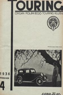 Touring : organ Polskiego Touring Klubu. 1936, nr4
