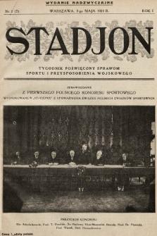 Stadjon : tygodnik poświęcony sprawom sportu i przysposobienia wojskowego. 1923, nr1