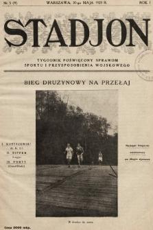 Stadjon : tygodnik poświęcony sprawom sportu i przysposobienia wojskowego. 1923, nr5