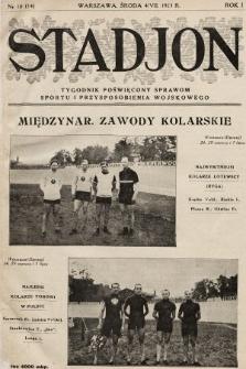 Stadjon : tygodnik poświęcony sprawom sportu i przysposobienia wojskowego. 1923, nr10