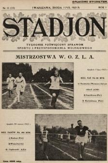 Stadjon : tygodnik poświęcony sprawom sportu i przysposobienia wojskowego. 1923, nr11