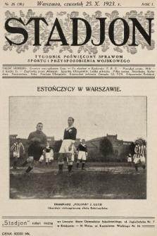 Stadjon : tygodnik poświęcony sprawom sportu i przysposobienia wojskowego. 1923, nr26