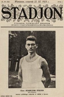 Stadjon : tygodnik poświęcony sprawom sportu i przysposobienia wojskowego. 1923, nr30