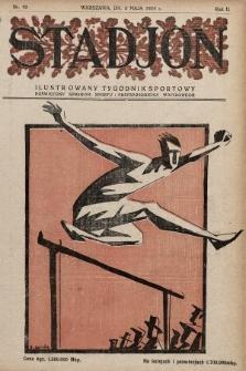 Stadjon : ilustrowany tygodnik sportowy poświęcony sprawom sportu i przysposobienia wojskowego. 1924, nr19