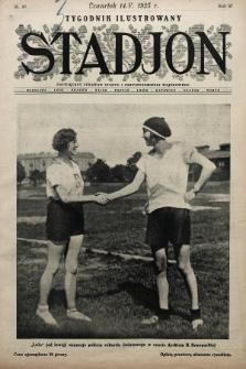 Stadjon : tygodnik ilustrowany poświęcony sprawom sportu i przysposobienia wojskowego. 1925, nr20
