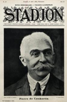 Stadjon : tygodnik ilustrowany poświęcony sprawom sportu i przysposobienia wojskowego. 1925, nr22