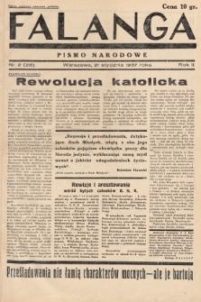 Falanga : pismo narodowe. 1937, nr2 (28)