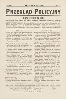 Przegląd Policyjny. 1936, nr3