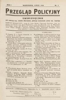 Przegląd Policyjny. 1936, nr4
