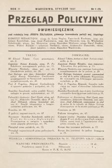Przegląd Policyjny. 1937, nr1