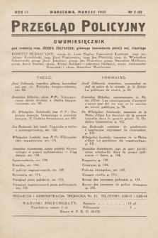 Przegląd Policyjny. 1937, nr2