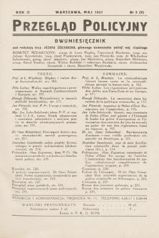 Przegląd Policyjny. 1937, nr3