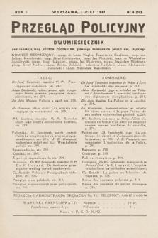 Przegląd Policyjny. 1937, nr4