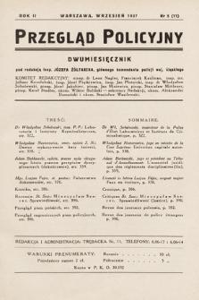 Przegląd Policyjny. 1937, nr5
