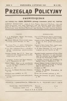 Przegląd Policyjny. 1937, nr6