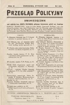 Przegląd Policyjny. 1938, nr1