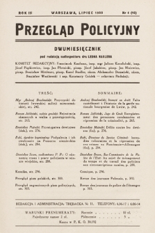 Przegląd Policyjny. 1938, nr4