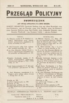Przegląd Policyjny. 1938, nr5