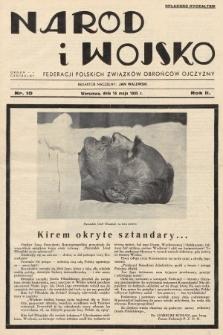 Naród i Wojsko : centralny organ Federacji Polskich Związków Obrońców Ojczyzny. 1935, nr10