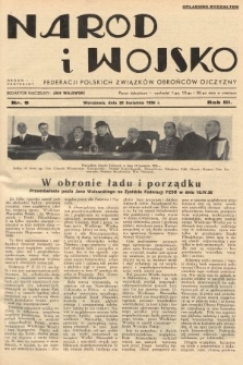 Naród i Wojsko : centralny organ Federacji Polskich Związków Obrońców Ojczyzny. 1936, nr9