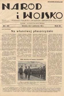 Naród i Wojsko : centralny organ Federacji Polskich Związków Obrońców Ojczyzny. 1936, nr25