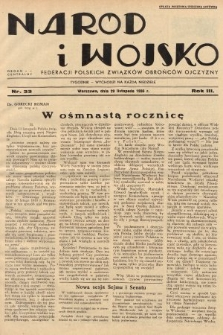 Naród i Wojsko : centralny organ Federacji Polskich Związków Obrońców Ojczyzny. 1936, nr33