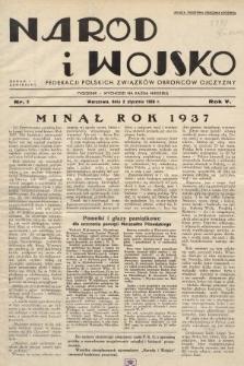 Naród i Wojsko : centralny organ Federacji Polskich Związków Obrońców Ojczyzny. 1938, nr1