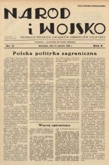 Naród i Wojsko : centralny organ Federacji Polskich Związków Obrońców Ojczyzny. 1938, nr3