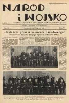 Naród i Wojsko : centralny organ Federacji Polskich Związków Obrońców Ojczyzny. 1938, nr5