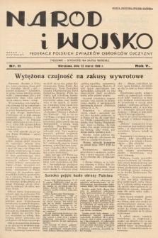 Naród i Wojsko : centralny organ Federacji Polskich Związków Obrońców Ojczyzny. 1938, nr11