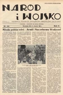 Naród i Wojsko : centralny organ Federacji Polskich Związków Obrońców Ojczyzny. 1938, nr34
