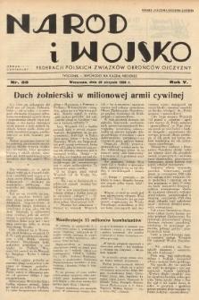 Naród i Wojsko : centralny organ Federacji Polskich Związków Obrońców Ojczyzny. 1938, nr35