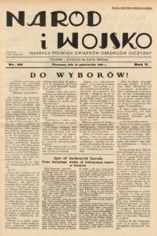 Naród i Wojsko : centralny organ Federacji Polskich Związków Obrońców Ojczyzny. 1938, nr42