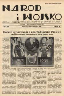 Naród i Wojsko : centralny organ Federacji Polskich Związków Obrońców Ojczyzny. 1938, nr46