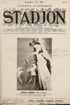 Stadjon : tygodnik ilustrowany poświęcony sprawom sportu i przysposobienia wojskowego. 1924, nr49