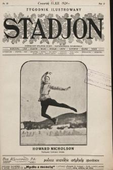 Stadjon : tygodnik ilustrowany poświęcony sprawom sportu i przysposobienia wojskowego. 1924, nr50