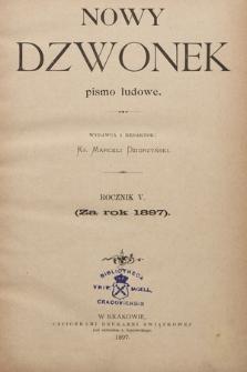 Nowy Dzwonek : pismo ludowe. 1897, Spis rzeczy