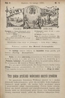 Nowy Dzwonek : pismo ludowe. 1897, nr4