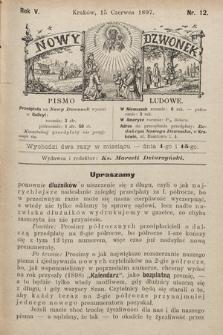 Nowy Dzwonek : pismo ludowe. 1897, nr12